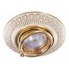 370016 NT15 230 белый/золото Встраиваемый светильник IP20 GX5.3 50W 12V VINTAGE 370016