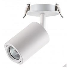 370398 NT18 072 белый Встраиваемый светильник IP20 GU10 50W 220V PIPE 370398