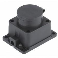 K-1e-IP44  ЭРА Колодка 1гн, c заземл., каучук, IP44 (10/100/1600) Б0030221