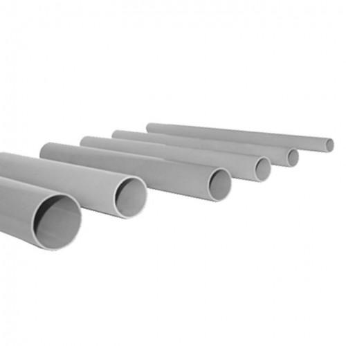 Труба гладкая жесткая ПВХ d32 EKF серая (72м/уп) (3м.) EKF PROxima trg-32-3n