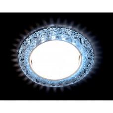 Встраиваемый точечный светильник со светодиодной лентой G308 CL/CLD хром/прозрачный GX53+3W(LED COLD) G308 CL/CLD