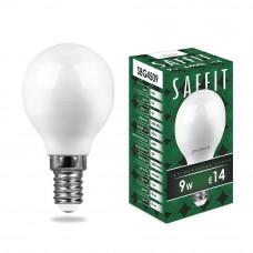 Лампа светодиодная SBG4509 9W 6400K 230V E14 G45 55125