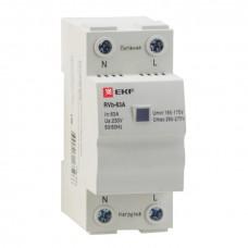 Реле напряжения (сквозное подкл.) RVb-40A EKF rvb-40a