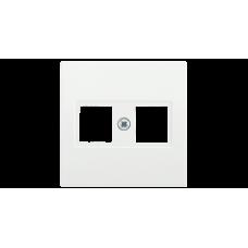 НK45-1-ББ Накладка комп. RJ45 Cat5e/6 BOLERO белый IEK ENB10-K-K01