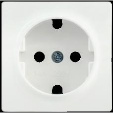 НР-1-1-ББ Накладка розетка с з/к BOLERO белый IEK ENB11-R-K01
