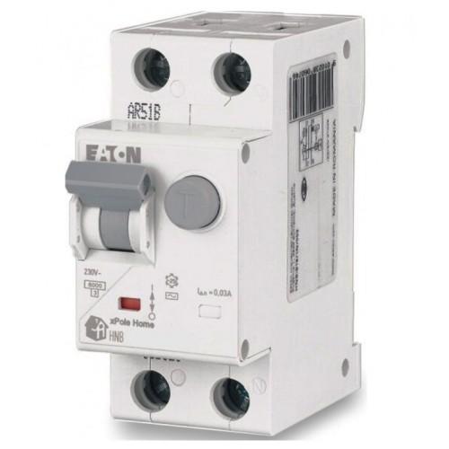 HNB-C20/1N/003-A Автоматический выключатель дифференциального тока, 20A, 30мА, кривая отключения C, 1полюс+N, тип чувствительности A 195140