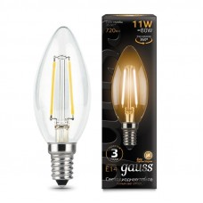 Лампа Gauss LED Filament Свеча E14 11W 720lm 2700К 1/10/50 103801111