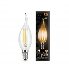 Лампа Gauss LED Filament Свеча на ветру E14 11W 720lm 2700K 1/10/50 104801111