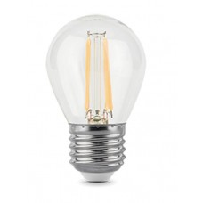 Лампа Gauss LED Filament Шар E27 7W 580lm 4100K step dimmable 1/10/50 105802207-S