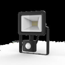 Прожектор светодиодный Gauss Elementary-S 20W 1300lm IP65 6500К черный с датчиком движения 1/20 628511320