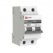 Выключатель нагрузки 2P 100А ВН-125 EKF SL125-2-100-pro