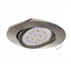 31688 Светодиодный встраиваемый светильник TEDO, 1x5W (GU10), O80, литой алюминий, никель матовый 31688
