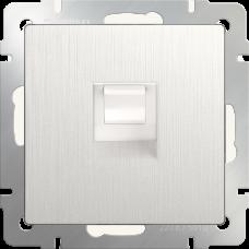 Телефонная розетка  RJ-11 (перламутровый рифленый)/WL13-RJ-11 a040903