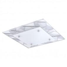 94581 Светодиодный светильник наст.-потол. PANCENTO, 9,7W(LED), 340x340, хром/белый, серый 94581