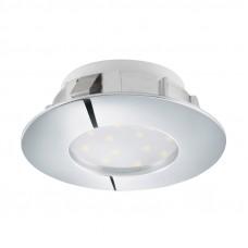 95812 Светодиод. встраиваемый светильник PINEDA диммир., 1х6W(LED), O78, пластик, хром 95812