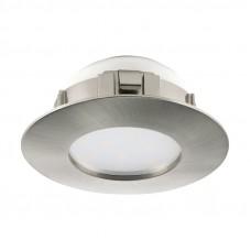 95813 Светодиод. встраиваемый светильник PINEDA диммир., 1х6W(LED), O78, пластик, никель матовый 95813
