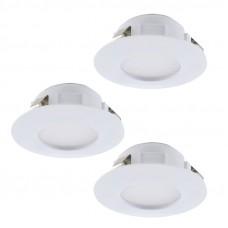 95814 Комплект светодиод. встраив. светильников PINEDA диммир., 3х6W(LED), O78, пластик, белый 95814