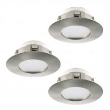 95816 Комплект светодиод. встраив. светильников PINEDA диммир., 3х6W(LED), O78, пластик, никель мато 95816