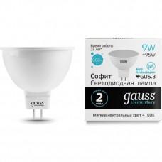 Лампа светодиодная Gauss LED Elementary MR16 GU10 9W 640lm 4100К 13629