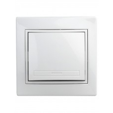 1-101-01 Intro Выключатель, 10А-250В, IP20, СУ, Plano, белый Б0027586