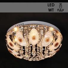 Люстра Y1119/6 хром 6х40W E14 LED-WT ПДУ d500 987677846