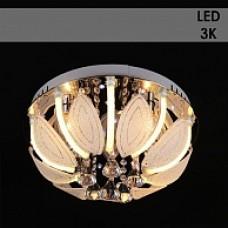 Люстра Y1094/6+12 хром 6х40W E14+12x3W LED (3000K) LED-WT ПДУ d500 h235 987677849