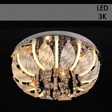 Люстра Y1093/6+12 хром 6х40W E14+12x3W LED (3000K) LED-WT ПДУ d500 h235 987677851