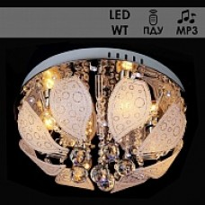 Люстра Y0868/4 хром 4x40 E14 LED-WT ПДУ, QH18 d400 MP3 987677466