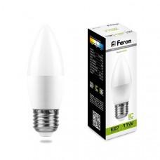Лампа светодиодная LB-770 (11W) 230V E27 4000K свеча 25944