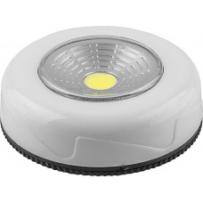FN1205 1LED 2W Светодиодный светильник-кнопка (3шт в блистере) 120Lm, 69*25мм, серебро 23376