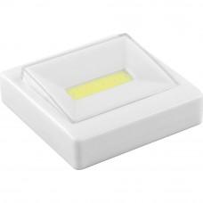 FN1206 1LED 3W Светодиодный светильник-кнопка 180Lm, 85*85мм, белый 23377