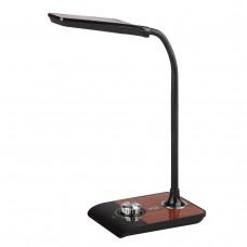 NLED-473-10W-BK настольная лампа  черный с деревом Б0033305