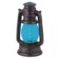 SL-RSN23-LANT-BU Садовые фонари ЭРА Садовый светильник на солнечной батарее, полистоун, пластик, синий, 21,3 см Б0032584