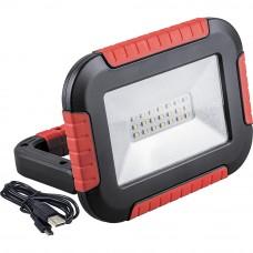 TL911 Аккумуляторный светодиодный прожектор-фонарь 10W, 6400K, 21*SMD2835, IP44, 160*125*42 мм 32725
