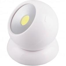 FN1209 1LED 3W Светодиодный поворотный светильник 100Lm, 75*80мм, белый 23380