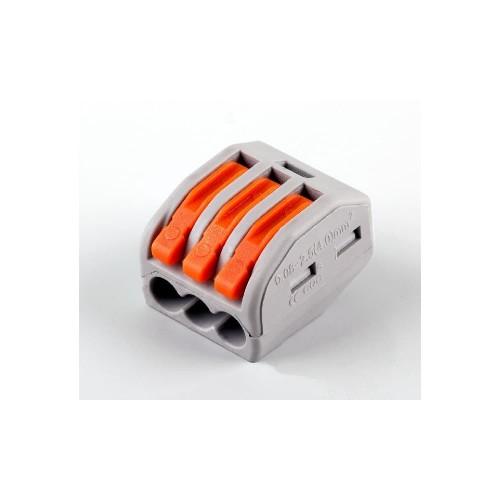 LD222-413 Cтроительно-монтажные клеммы 3-проводные  (DIY упаковка 5 шт) STEKKER 32421