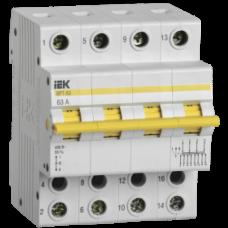 Выключатель-разъединитель трехпозиционный ВРТ-63 4P 63А IEK MPR10-4-063