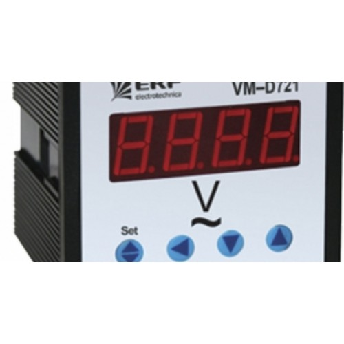 Амперметр AD-721 цифровой на панель (72х72) однофазный EKF ad-721