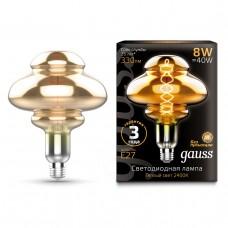 Лампа Gauss LED Filament Led Vintage Flexible BD160 E27 8W 60*210mm 2400K Gray 162802008