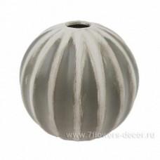 Ваза Шар рельефный (керамика), D15x14см, антик-серый 1082202