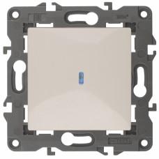 14-1102-02 ЭРА Выключатель с подсветкой, 10АХ-250В, IP20, Эра Elegance, сл.кость Б0034216