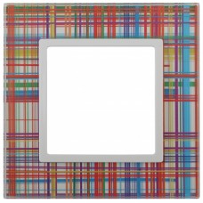 14-5101-00 ЭРА Рамка на 1 пост, стекло, Эра Elegance, прозрачный+бел Б0034469