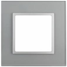 14-5101-03 ЭРА Рамка на 1 пост, стекло, Эра Elegance, алюминий+алюм Б0034472