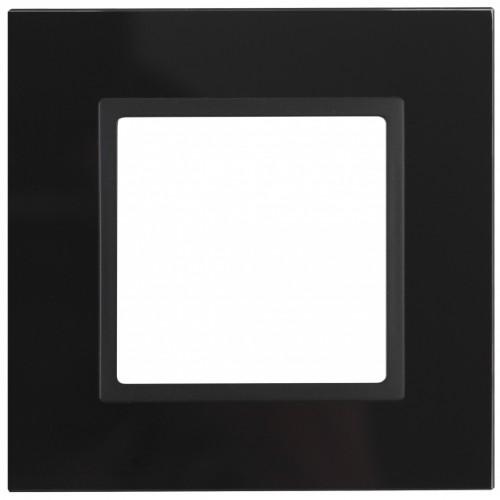 14-5101-05 ЭРА Рамка на 1 пост, стекло, Эра Elegance, чёрный+антр Б0034474
