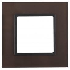 14-5101-13 ЭРА Рамка на 1 пост, стекло, Эра Elegance, бронза+антр Б0034475