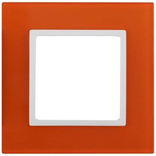 14-5101-22 ЭРА Рамка на 1 пост, стекло, Эра Elegance, оранжевый+бел Б0034477