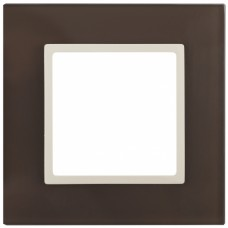 14-5101-31 ЭРА Рамка на 1 пост, стекло, Эра Elegance, мокко+сл.к Б0034485