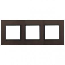 14-5103-13 ЭРА Рамка на 3 поста, стекло, Эра Elegance, бронза+антр Б0034511