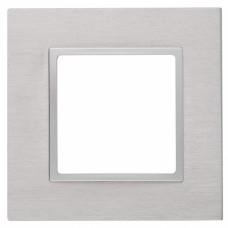 14-5201-03 ЭРА Рамка на 1 пост, металл, Эра Elegance, алюминий+алюм Б0034541