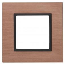 14-5201-14 ЭРА Рамка на 1 пост, металл, Эра Elegance, медь+антр Б0034544